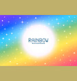 colorful rainbow background with stars and vector image vector image