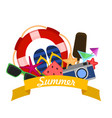 Concept of summer vacation with flat modern icons