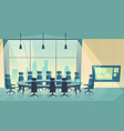 conference hall for business cartoon vector image vector image
