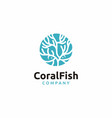 coral fish logo design vector image vector image