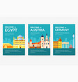 country egypt austria germany india russia vector image vector image