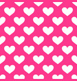 cute pink polka dot heart pattern st valentines vector image vector image