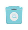 dental floss box icon flat style vector image vector image
