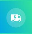 electric van icon vector image vector image