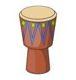 Ethnic drum icon cartoon style vector image vector image