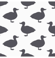 Farm bird silhouette seamless pattern Duck meat vector image vector image