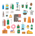 Flat design of coffee shop items set vector image vector image