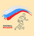 football player leading soccer ball vector image