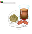 Gahwa Coffee Popular Dink in United Arab Emirates vector image vector image