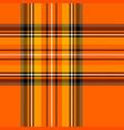halloween tartan plaid pattern scottish cage vector image vector image