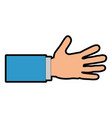 hand human shake isolated icon vector image vector image
