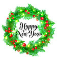 happy new year calligraphy hand drawn text vector image vector image