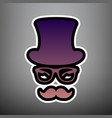 hipster accessories design violet vector image
