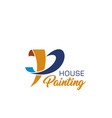 house painting icon for home repair service design vector image vector image