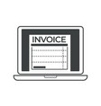 invoice paper shown on personal computer screen vector image