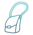 leather bag isolated vector image vector image