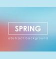 light color blue pink spring clear background vector image vector image