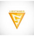 Lightning Symbol as a Five Numeral Abstract vector image vector image