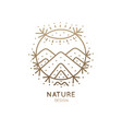 logo sacred nature vector image vector image
