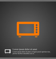 microwave icon simple vector image
