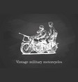 military motorcycles vector image vector image