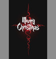 modern gothic cross and christmas lettering vector image