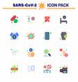 novel coronavirus 2019-ncov 16 flat color icon vector image vector image