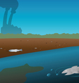 pollution river vector image vector image