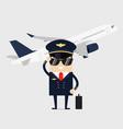 profession pilot aircraft vector image