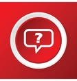 Question icon on red vector image