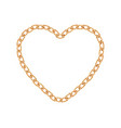 realistic golden chain texture gold chains link vector image vector image