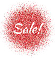 red dust with sale sign vector image