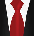 red tie vector image