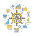 round linear concept of management vector image vector image