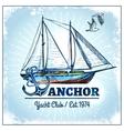 Sail Ship Poster vector image vector image