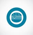 sandwich icon bold blue circle border vector image vector image