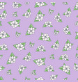 seamless floral pattern in hand draw vector image vector image