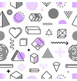seamless pattern geometric shapes on white vector image