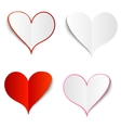 Set of paper hearts vector image vector image