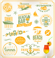 set travel and vacation emblems vector image vector image
