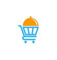 shop food logo icon design vector image vector image