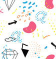 Simple seamless doodle pattern in kitsch