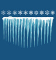 snowdrifts icicles ice caps set snowcap and vector image vector image