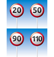 Speed limit traffic road board vector image