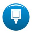 square pin icon blue vector image vector image