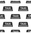 taxi car roof sign icon seamless pattern vector image