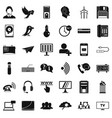 telephone communication icons set simple style vector image vector image