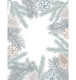 template for christmas greeting card vector image
