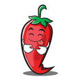 tongue out red chili character cartoon vector image vector image