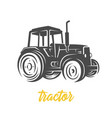 tractor black and white vector image vector image